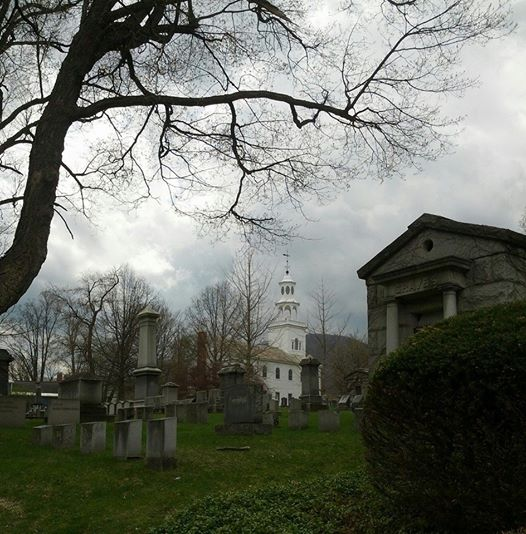 Cemetery on a spring day